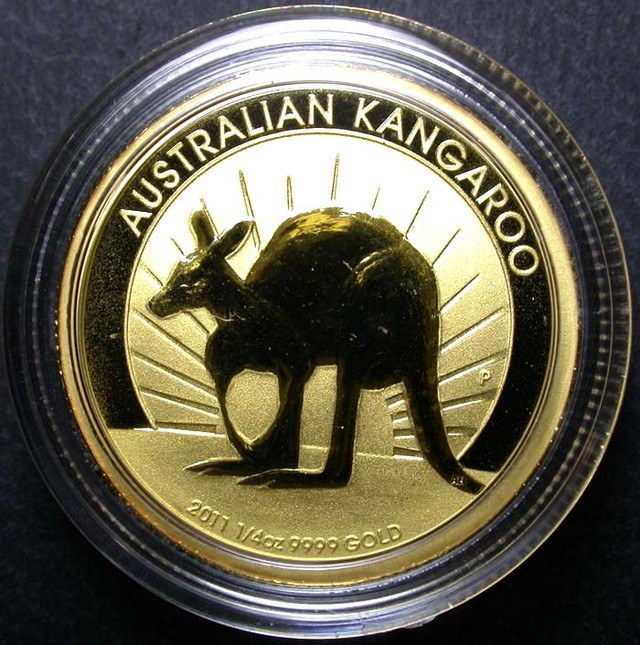 2011 Kanagroo 1/4 Ounce Gold Coin BU