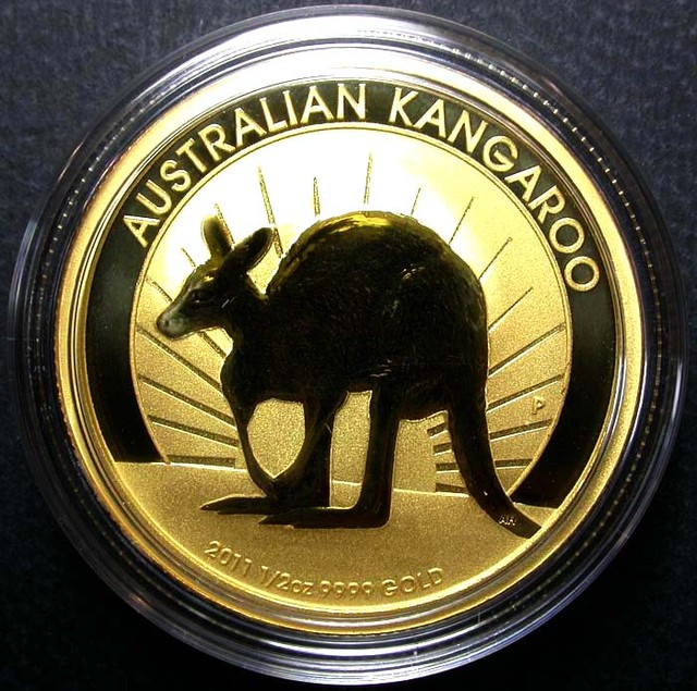 2011 Kanagroo 1/2 Ounce Gold Coin BU