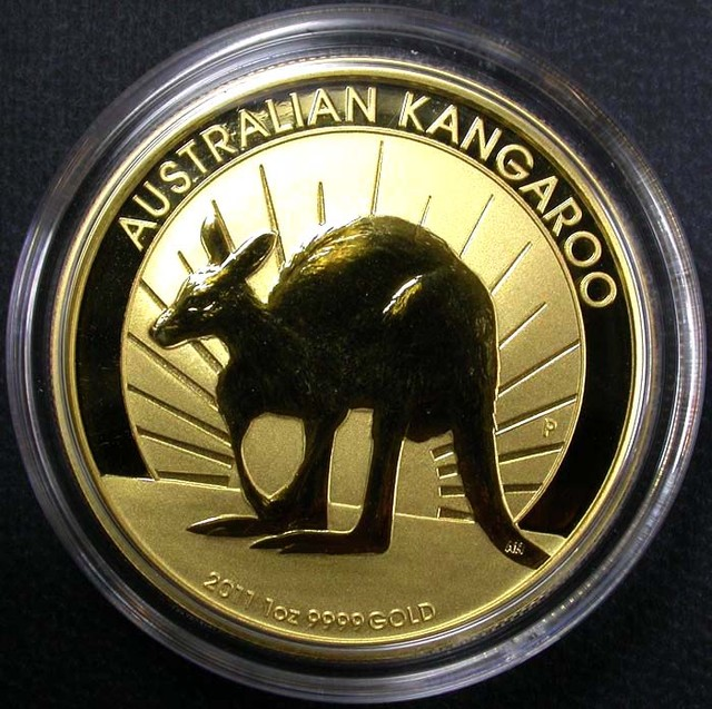 2011 Kanagroo One Ounce Gold Coin BU