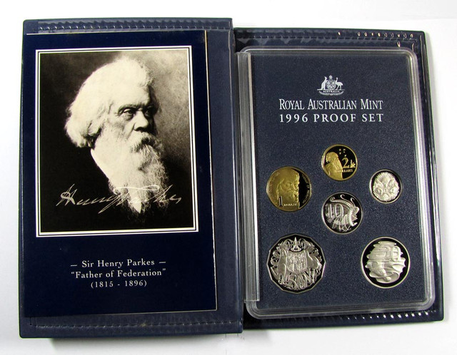 1996 PROOF SET SIR HENRY PARKES  J1612