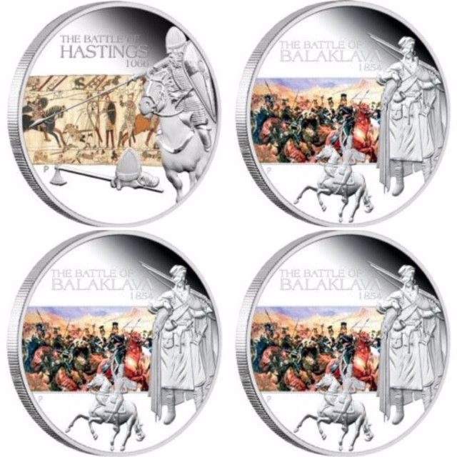 FOUR FAMOUS  BATLES IN HISTORY SILVER COINS