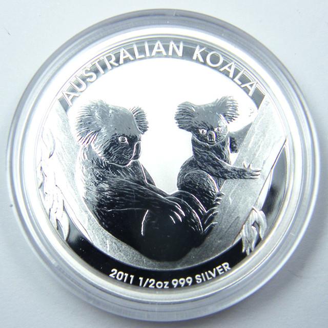 2011 AUSTRALIAN  HALF OUNCE KOALA SILVER   COIN