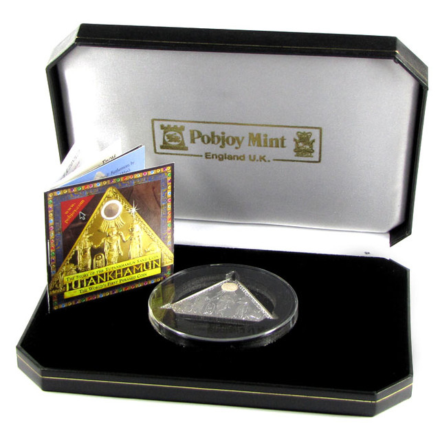2009Proof  Tutankhamun Triangular Sand Silver coin CO 1194