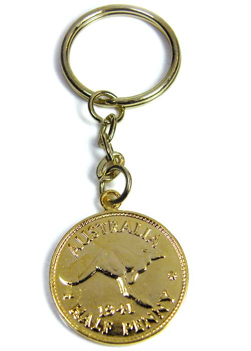 GENUINE AUSTRALIAN 1941 COIN KEY RING J1623 ML