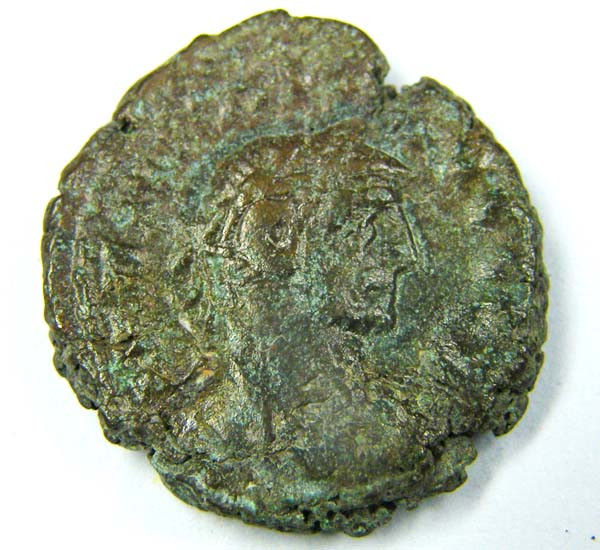 ANCIENT ROMAN COIN FROM EGYPT  AC 740