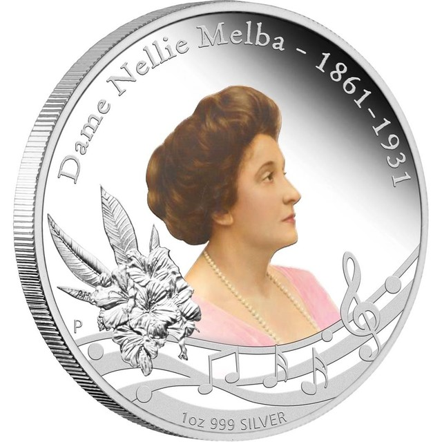 DAME NELLIE MELBA (1861 - 1931) 1OZ SILVER PROOF COIN