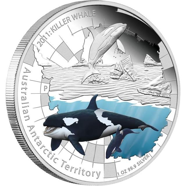 Australian Antarctic Territory Series Killer Whale 2011 1oz