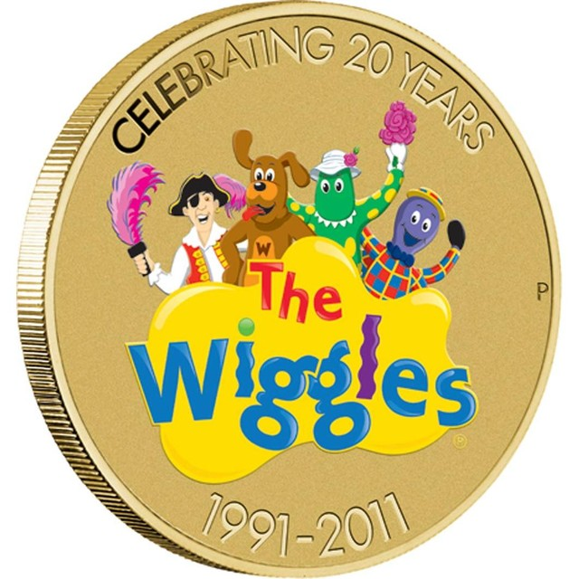 THE WIGGLES 20TH BIRTHDAY $1 COIN