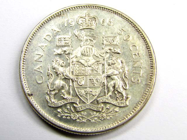 1966  05 CENTS .800 SILVER COIN      J 1882