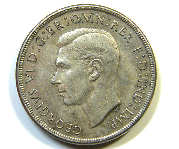 1937 AUSTRALIAN ONE CROWN   92.5 % SILVER   OP854