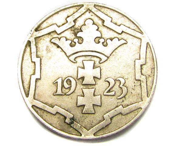 DANZIG 1923 10 PF COIN      J 1896