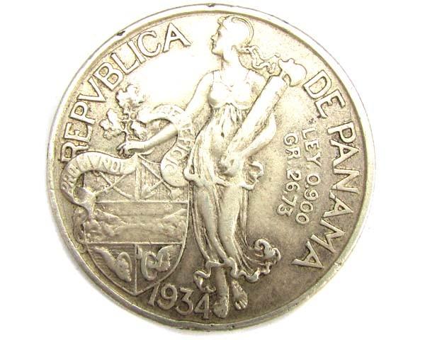 1934 BALBOA .900 SILVER COIN      J 1897