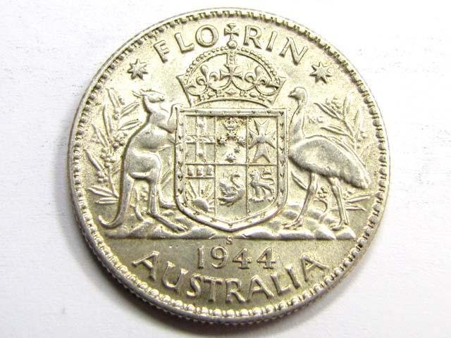 AUSTRALIAN1944 FLORIN 925 SILVER COIN CO942