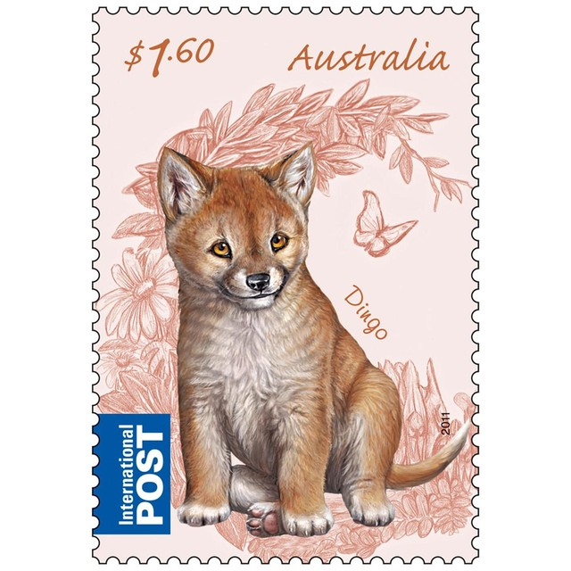 Australian Bush Babies - Dingo Stamp and Coin Cover