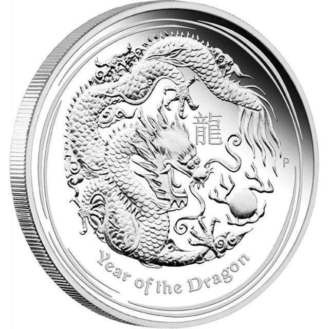 2012 AUSTRALIAN  DRAGON TW0  OUNCE COIN