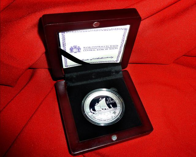 2011 SILVER Euro Coin MALTA - The Phoenicians in Malta PROOF
