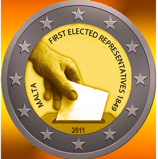 2011 Malta - 2 Euro Commemorative Coin - 1 Roll