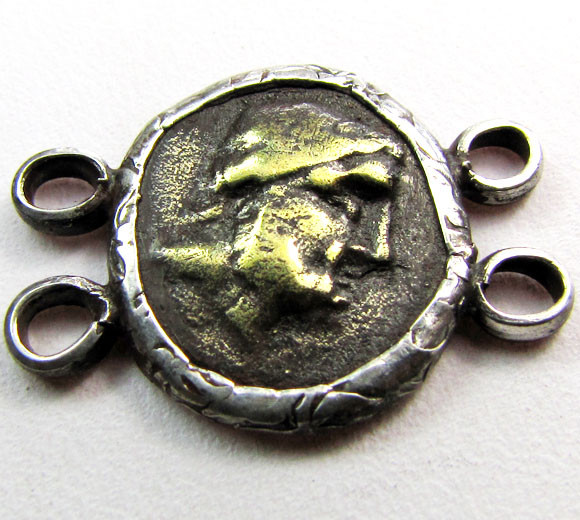 ANCIENT ROMAN  BYZANTINE  COIN IN  PENDANT CO 1117