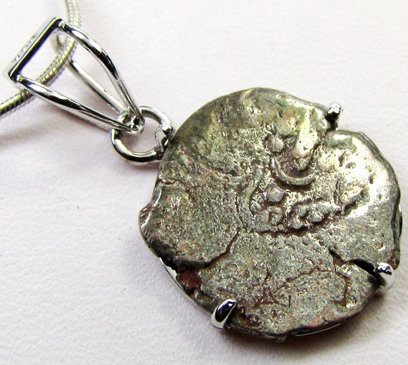 ANCIENT KING SASSANIAN  COIN IN  SILVER PENDANT CO 1143