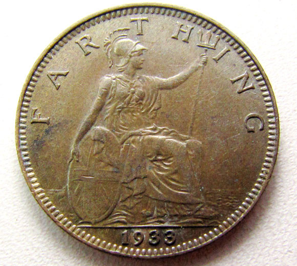 1933 FARTHING UK COIN    CO 1252