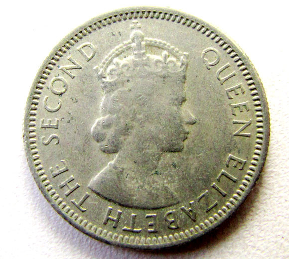 1953 NORTH BORNEAO 10 CENTS  COIN    CO 1265