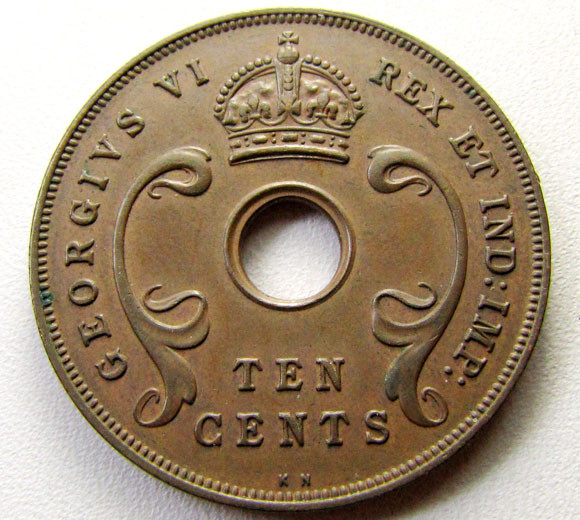 1937 EAST AFRICA  COIN    CO 1277