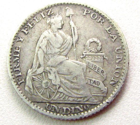 1902 LIMA .900  SILVER COIN    CO 301