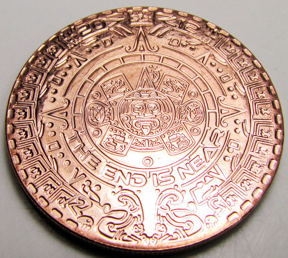 twelve Ounce Aztec end is near 2012  .999 pure copper RT 590