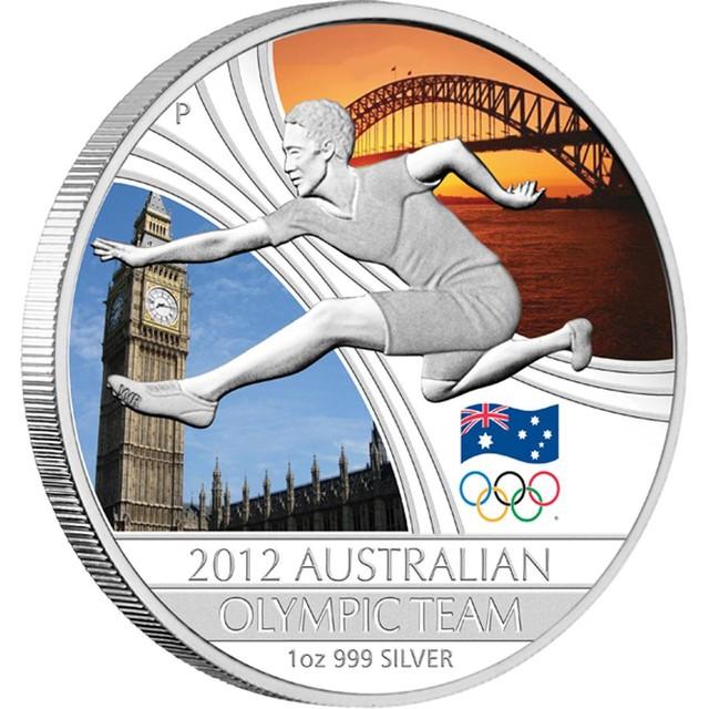 012 Australian Olympic Team 1oz Silver Proof Coin
