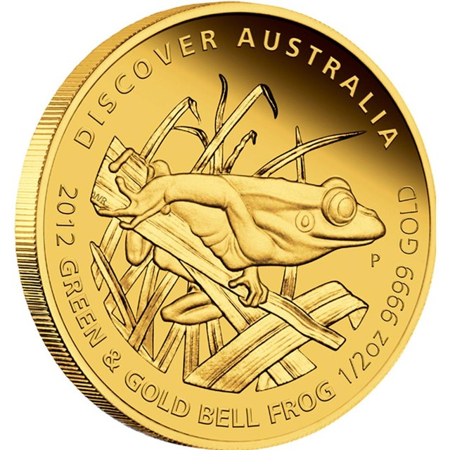 Discover Australia - Green and Gold Bell Frog 1/2oz Gold