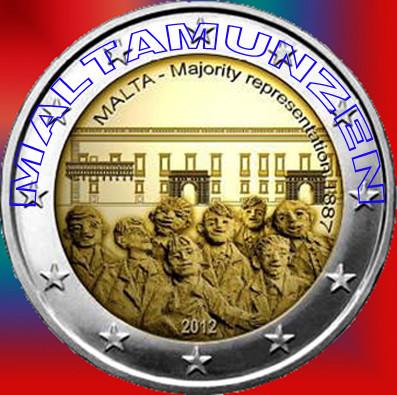 """2012 Malta €2 Commemorative Coin """"1887 Majority"""" - PROOF"""