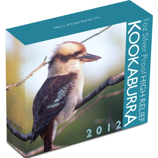 AUSTRALIAN KOOKABURRA 2012 1OZ SILVER PROOF HIGH RELIEF COIN