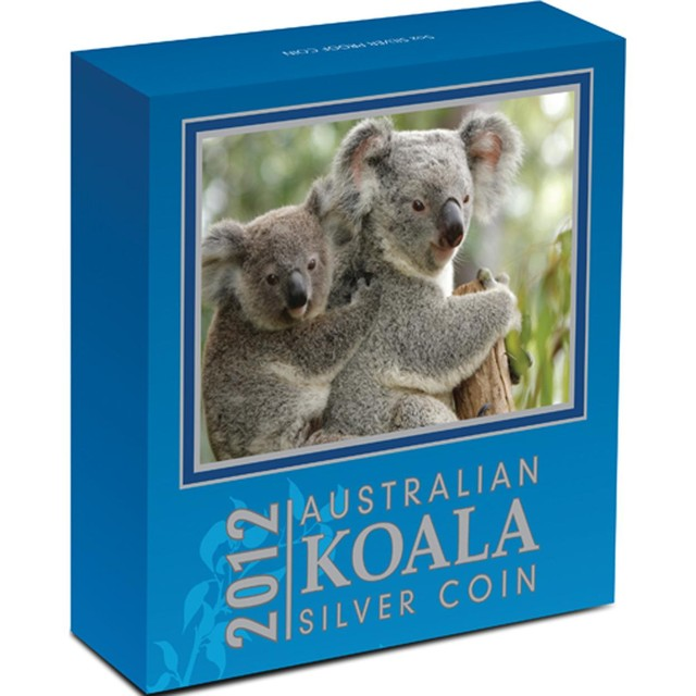 AUSTRALIAN KOALA 2012 5OZ SILVER PROOF COIN