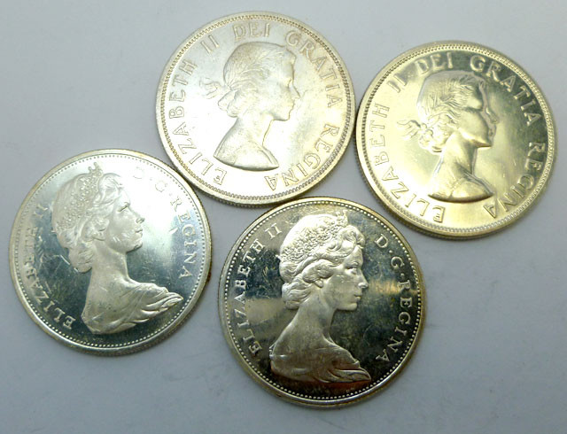 FOUR UNC CANADIAN BULLION INVESTMENT COINS CO913