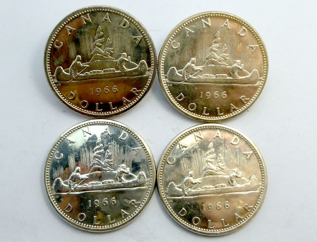 THREE  1966 UNC CANADIAN BULLION INVESTMENT COINS CO915