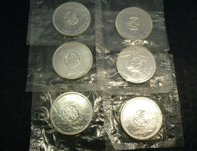 all six coins are in original packaging