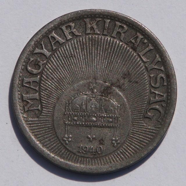 Hungary 10 Fillér 1940 Kingdom of Hungary KM#507a