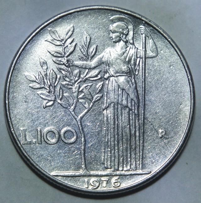 Italy 100 Lire (large type) 1976 R KM#96.1