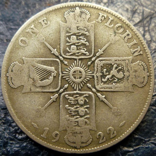 FLORIN 1922 500    SILVER COIN CO 1404