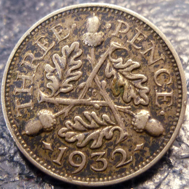 1932 THREEPENCE    SILVER COIN CO 1410