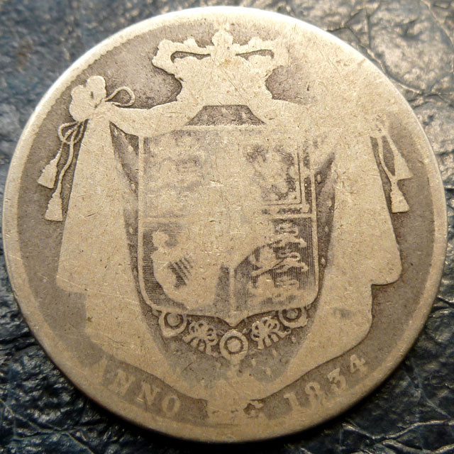 1834 WORN BRITISH   SILVER COIN CO 1414