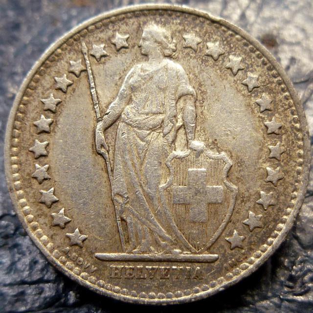 1952 1/2 FRANC .835 SILVER COIN CO 1416