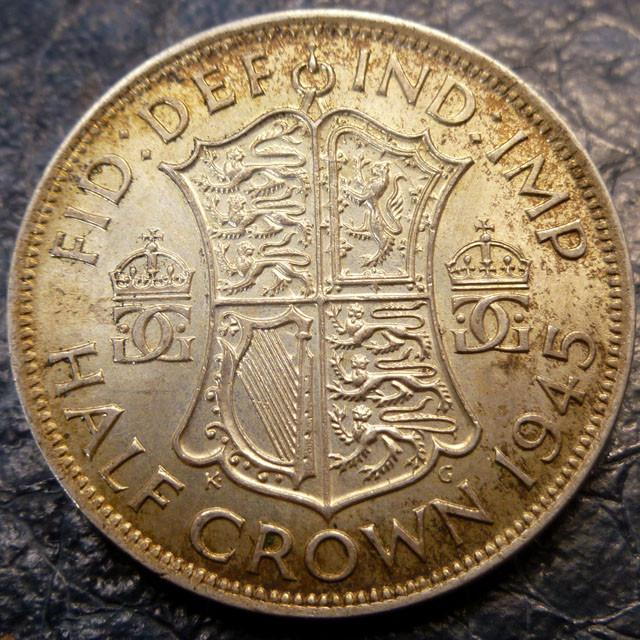 1945 HALF CROWN 500  SILVER COIN CO 1417