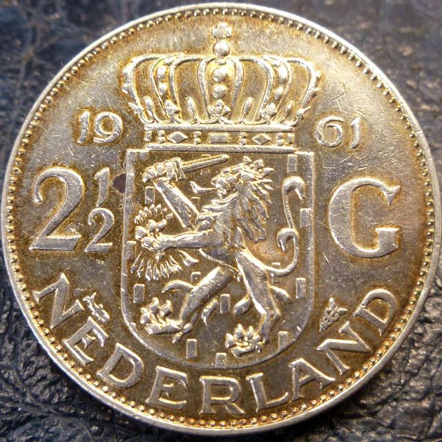 1961HOLLAND  2/12 G 720     SILVER COIN CO 1421