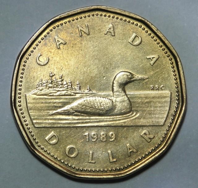 Canada 1 Dollar-Elizabeth II. 2nd portrait 1989 KM#157