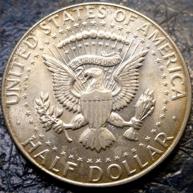 1967 KENNEDY /JFK HALF SILVER DOLLAR  SILVER  CO 1464