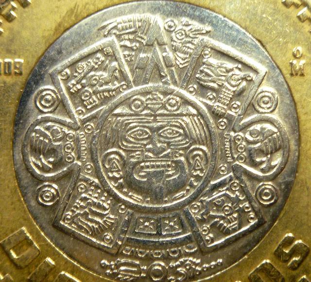 Parcel Four Aztec Sun God Coin Pendant Co1473