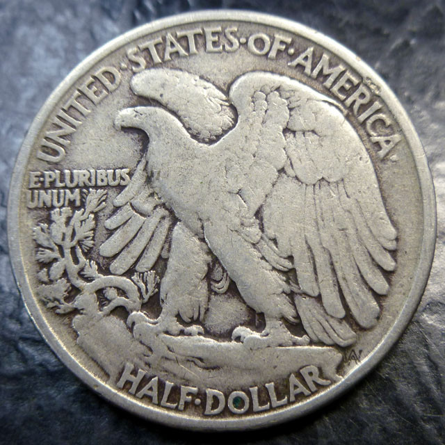 1942 SILVER WALKING LIBERTY HALF DOLLAR .900 fine SILVER  CO 1486