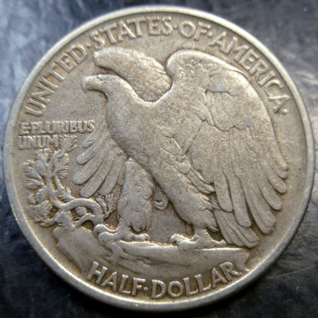 1945 SILVER WALKING LIBERTY HALF DOLLAR  CO 1487