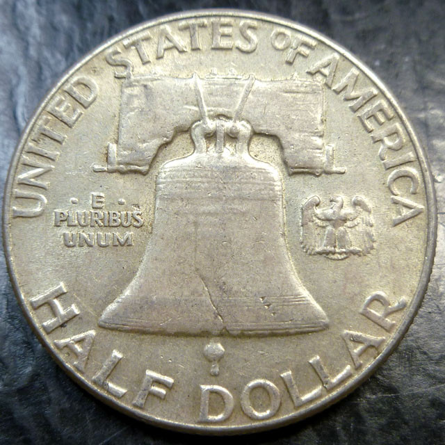 1963 SILVER FRANKLING DOLLAR  HALF DOLLAR  CO 1491